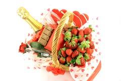 Cesta 2. del día de tarjetas del día de San Valentín Foto de archivo libre de regalías
