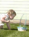 Cesta Annie de Pascua Imagen de archivo libre de regalías