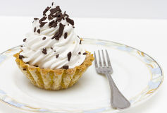 Cesta apetitosa de la torta con crema de la mantequilla Fotos de archivo libres de regalías