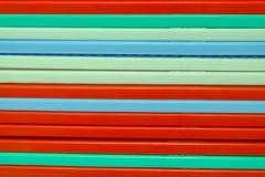 Cesta colorida do plástico da listra Imagem de Stock