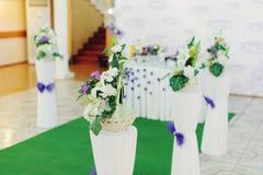 Cesta com flor Imagens de Stock Royalty Free