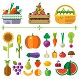 Cesta com frutas e verdura Imagem de Stock Royalty Free