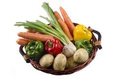 Cesta com o vegetal no fundo brilhante Foto de Stock