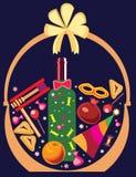Cesta com os presentes para Purim Imagem de Stock