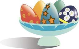 Cesta com ovos Imagens de Stock