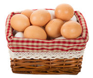 Cesta com ovos imagem de stock