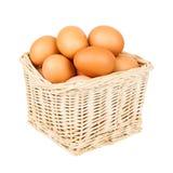 Cesta com ovos Foto de Stock