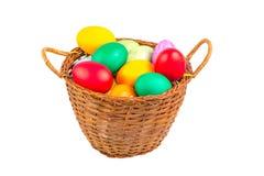 Cesta com ovos de Easter Fotos de Stock Royalty Free
