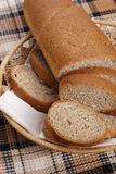 Cesta com pão Imagens de Stock