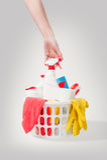 Cesta com produtos celaning Imagem de Stock
