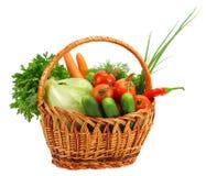 Cesta com vegetais Imagem de Stock Royalty Free