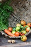 Cesta com vegetais Imagens de Stock Royalty Free