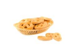 Cesta con las galletas Fotografía de archivo