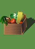Cesta con las verduras Foto de archivo libre de regalías