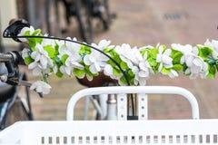 Cesta da bicicleta Fotografia de Stock Royalty Free