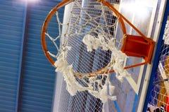 Cesta da malha para o basquetebol Imagens de Stock