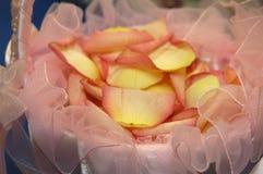 Cesta da menina de flor Imagens de Stock Royalty Free