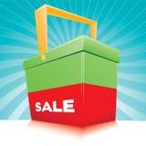 Cesta da venda Fotos de Stock Royalty Free