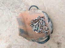 Cesta dada forma shell dos moluscos da sucata da barra Fotografia de Stock Royalty Free