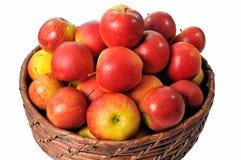 Cesta das maçãs Imagem de Stock
