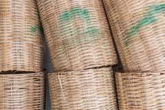 Cesta de bambu Foto de Stock