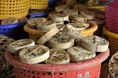 Cesta de bambu de Tailândia dos peixes vazia Imagem de Stock