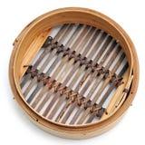 Cesta de bambu do navio do dim sum Imagens de Stock Royalty Free