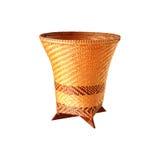 Cesta de bambu, textura do weave do artesanato natural Imagens de Stock Royalty Free