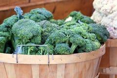 Cesta de bróculi Foto de archivo libre de regalías