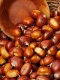 Cesta de Chesnuts Imagenes de archivo