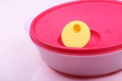 Cesta de comida plástica Imagens de Stock