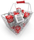 Cesta de compra Imagem de Stock Royalty Free