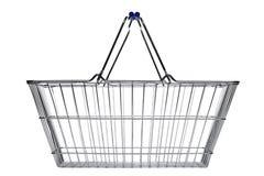 Cesta de compra isolada no branco Imagem de Stock