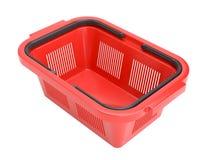 Cesta de compra vermelha Imagem de Stock