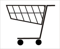 Cesta de compra - vetor Foto de Stock