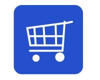 Cesta de compras Fotografía de archivo libre de regalías