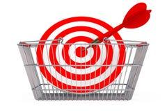 Cesta de compras con la blanco como dardos libre illustration