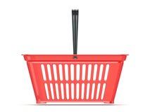 Cesta de compras roja Front View Imagen de archivo libre de regalías