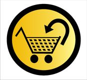 Cesta de compras - vector Foto de archivo
