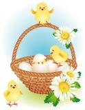 Cesta de Easter ilustração royalty free