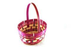 Cesta de Easter no branco foto de stock royalty free