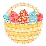 Cesta de Easter no branco. Imagens de Stock