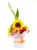 Cesta de flores Imágenes de archivo libres de regalías