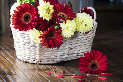 Cesta de flores Imagenes de archivo