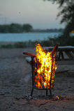 Cesta de fogo Foto de Stock Royalty Free