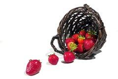 Cesta de fresas Foto de archivo libre de regalías