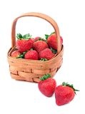 Cesta de fresas Imagen de archivo libre de regalías