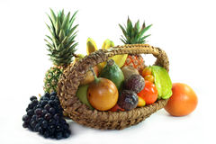 Cesta de fruta Foto de Stock Royalty Free