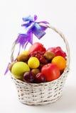 Cesta de fruta Imagem de Stock