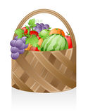 Cesta de fruta Fotografia de Stock Royalty Free